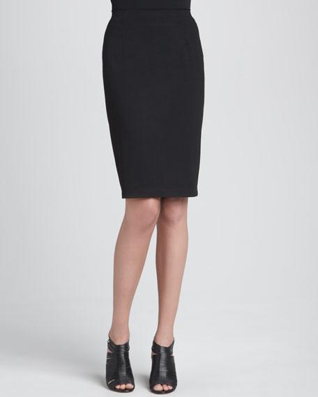 Ponte Knee-Length Pencil Skirt, Petite