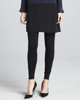 Eileen Fisher Viscose Jersey Ankle Leggings, Petite