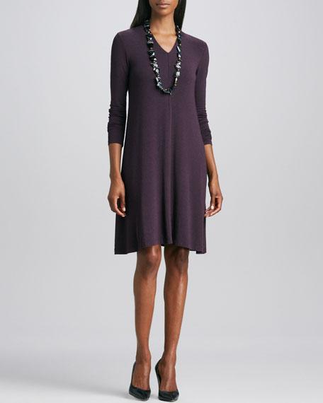 Cozy Long-Sleeve Jersey Dress