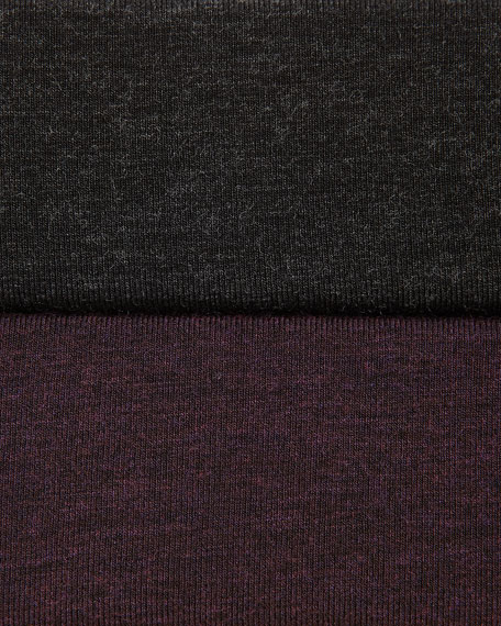 Cozy Long-Sleeve Jersey Dress, Petite