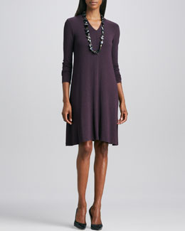 Eileen Fisher Long-Sleeve Jersey Dress, Women's