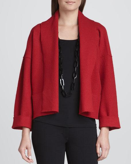 Boiled Wool Kimono Jacket