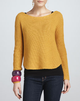 Eileen Fisher Alpaca/Silk Sweater Top