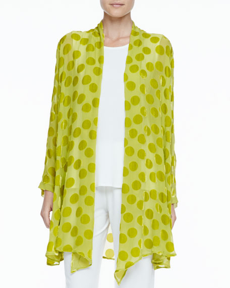 Dot Burnout Long Jacket, Citron