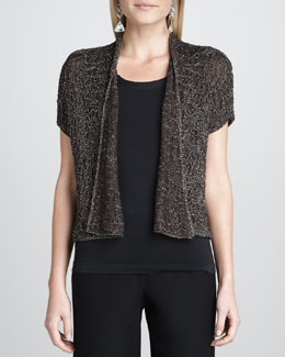 Eileen Fisher Sparkle Jacquard Cardigan, Women's