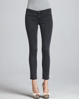 AG Adriano Goldschmied Super Skinny Leggings, Sulfur Dark Charcoal