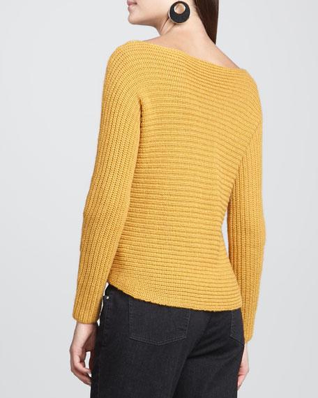 Alpaca/Silk Sweater Top, Ochre