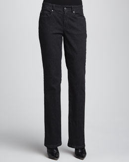 Eileen Fisher Organic Soft Straight-Leg Jeans