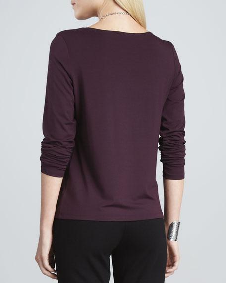 Melange Long-Sleeve Top
