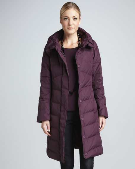 Puffy Weather-Resistant Coat, Petite