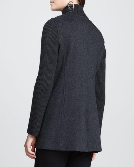 Felted Flannel Melange Jacket