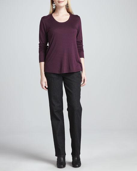 Organic Straight-Leg Jeans, Petite