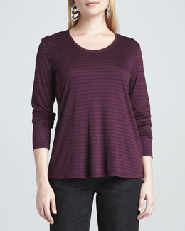 Eileen Fisher Cashmere Striped Top