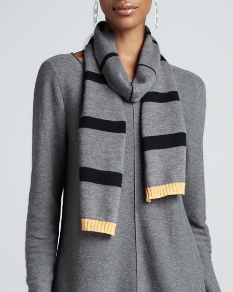 Merino Bar-Striped Scarf