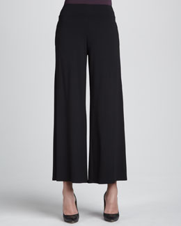 Eileen Fisher Jersey Wide-Leg Pants