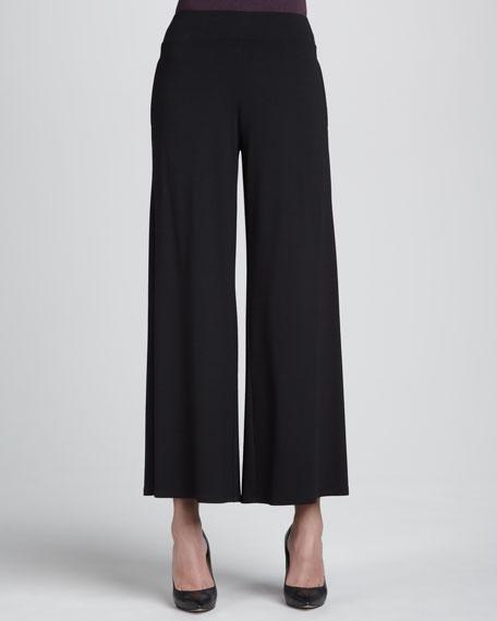 Jersey Wide-Leg Pants