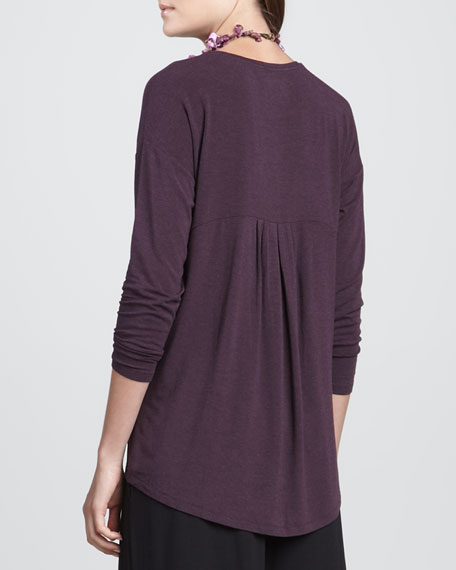 Long-Sleeve Jersey Oval Top