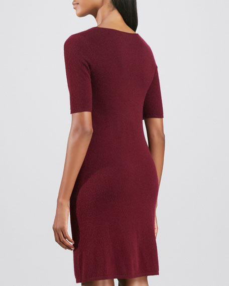 Twist-Front Cashmere Dress