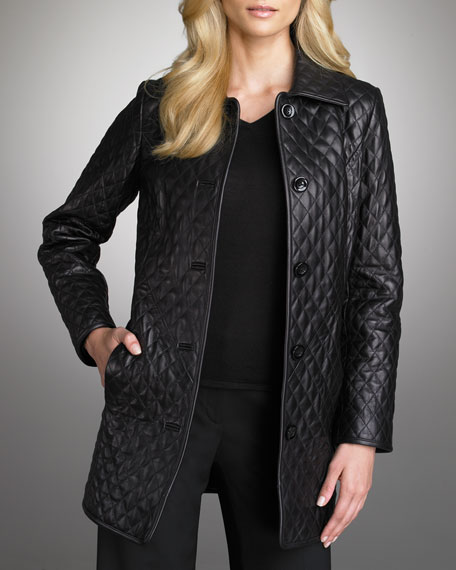 Quilted Leather Jacket, Women's
