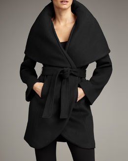 Elie Tahari Exclusive for Neiman Marcus Marla Wrap Coat