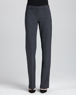 Theory Max 2 Suit Pants, Charcoal