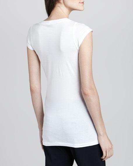 Juin 2 Short-Sleeve Tee, White