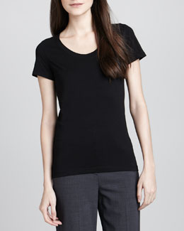 Theory Juin 2 Short-Sleeve Tee, Black