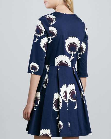 Tuck Dandelion-Print Dress