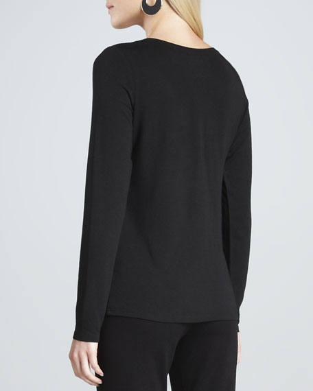 Cozy Long Lean Jersey Top