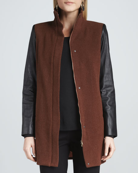 Eileen fisher leather jacket