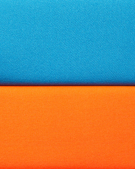 designer fashion sports shoes sale usa online Alexia Half-Zip Pullover Neon Orange