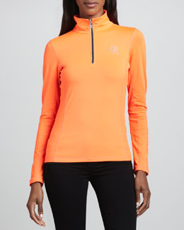 Bogner Fire + Ice Alexia Half-Zip Pullover, Neon Orange