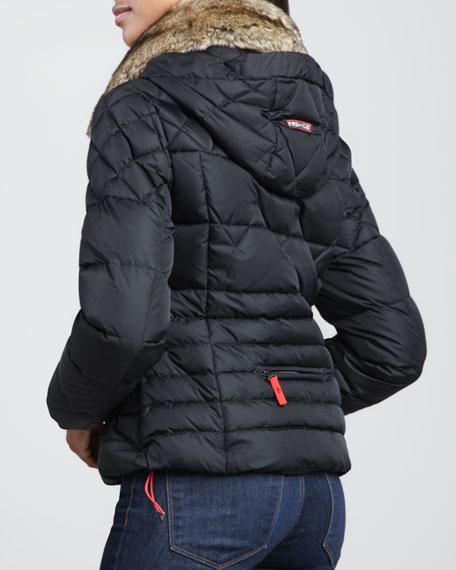 Joleen Fur-Trim Puffer Coat