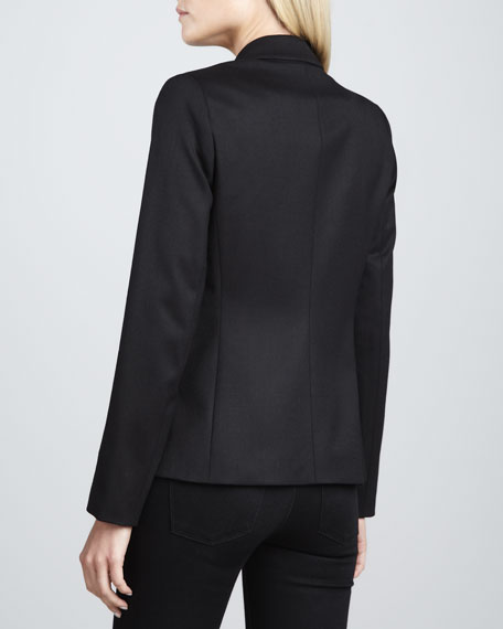 Narolie Elite One-Button Blazer, Black
