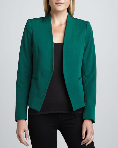 Lanai Basis Open Blazer, Emerald