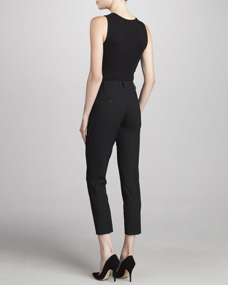 Goldie Taylor Ankle Pants, Black