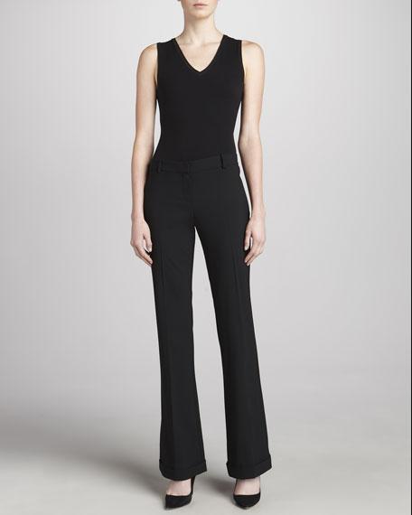 Lauren Tailor Cuffed Pants, Black