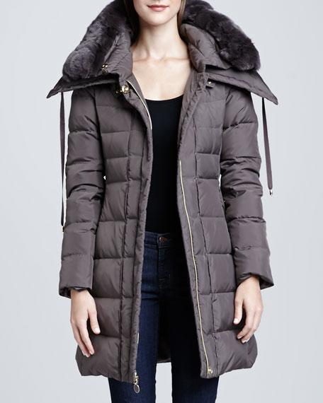 Christina Fur-Trim Puffer Coat