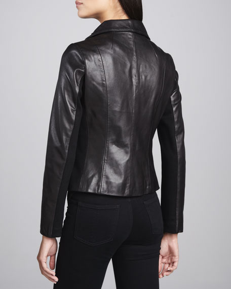 Lisette Leather Motorcycle Jacket