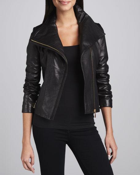 Lisette Leather Motorcycle Jacket