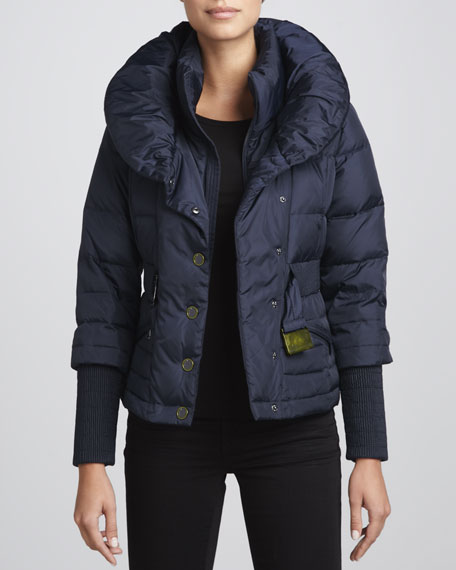 Pearl Belted Puffer Coat