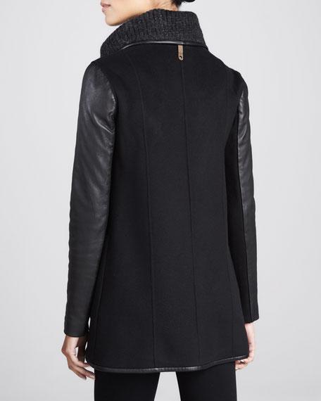 Cornelia Mix-Media Coat