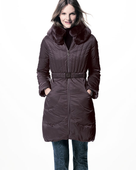 Corey Fur-Collar Puffer Coat