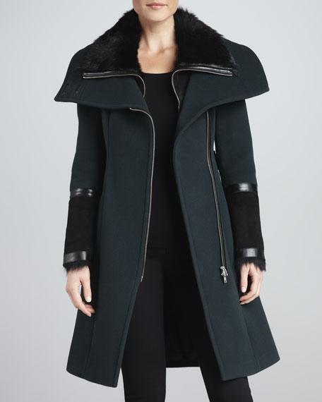 Isabel Fur Collar-Coat