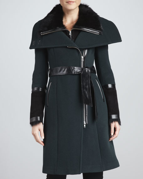 Isabel Fur Collar-Coat