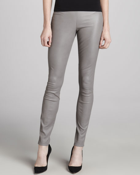 Ima Maximus Skinny Leather Pants, Gray