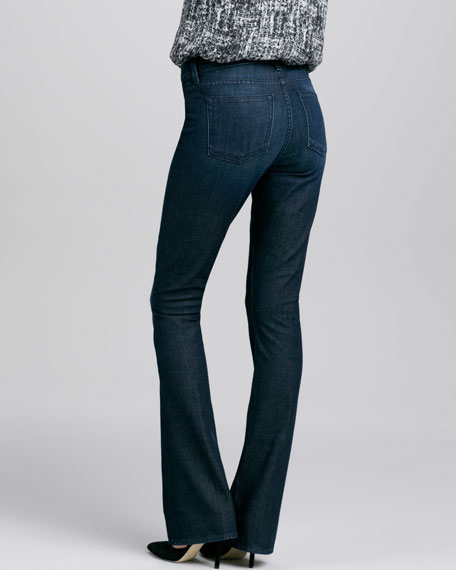 Taylor High-Rise Boot-Cut Jeans, Dark Resin Crease