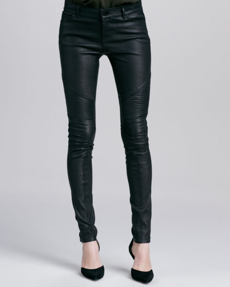 Moto Leather Pants, Black