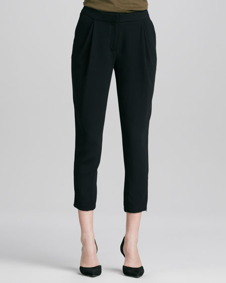 Stretch Harem Pants, Black