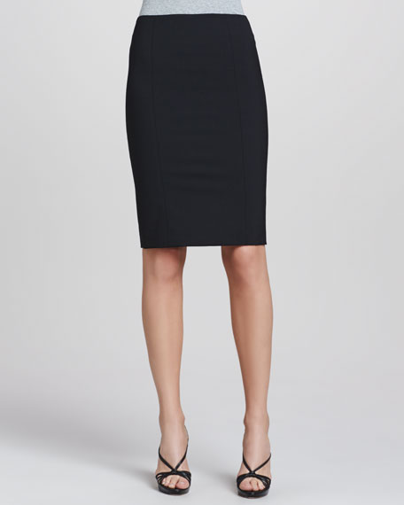 Rita Tailor Pencil Skirt, Black
